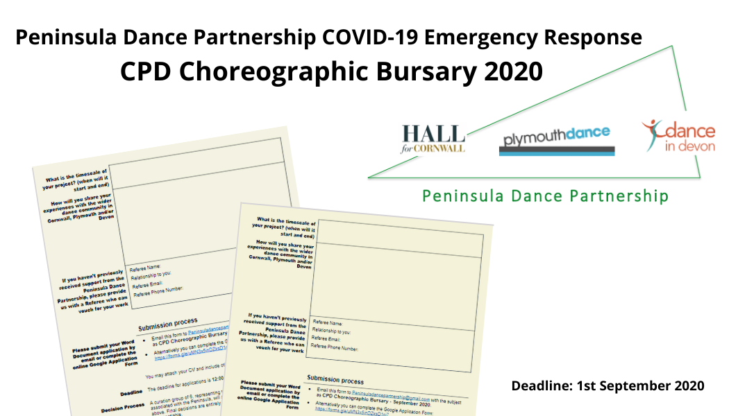 Peninsula Dance Partnership Choreographic Bursary 2020